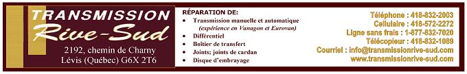 Bannière Transmission Rive-Sud